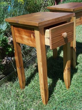 Custom Made Reclaimed Antique Pine End Table