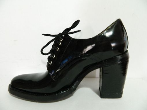 Custom Made Elastic And Lace Up High Heel Shoes Made To Order Sharp, Round Or Square Toe