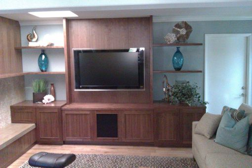 Custom Made Walnut Tv Unit