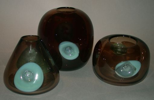 Custom Made Blown Glass Vases