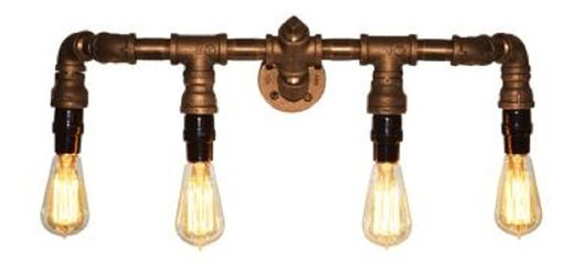Custom Made Edison Bulb Wall Sconce For Over The Mirror