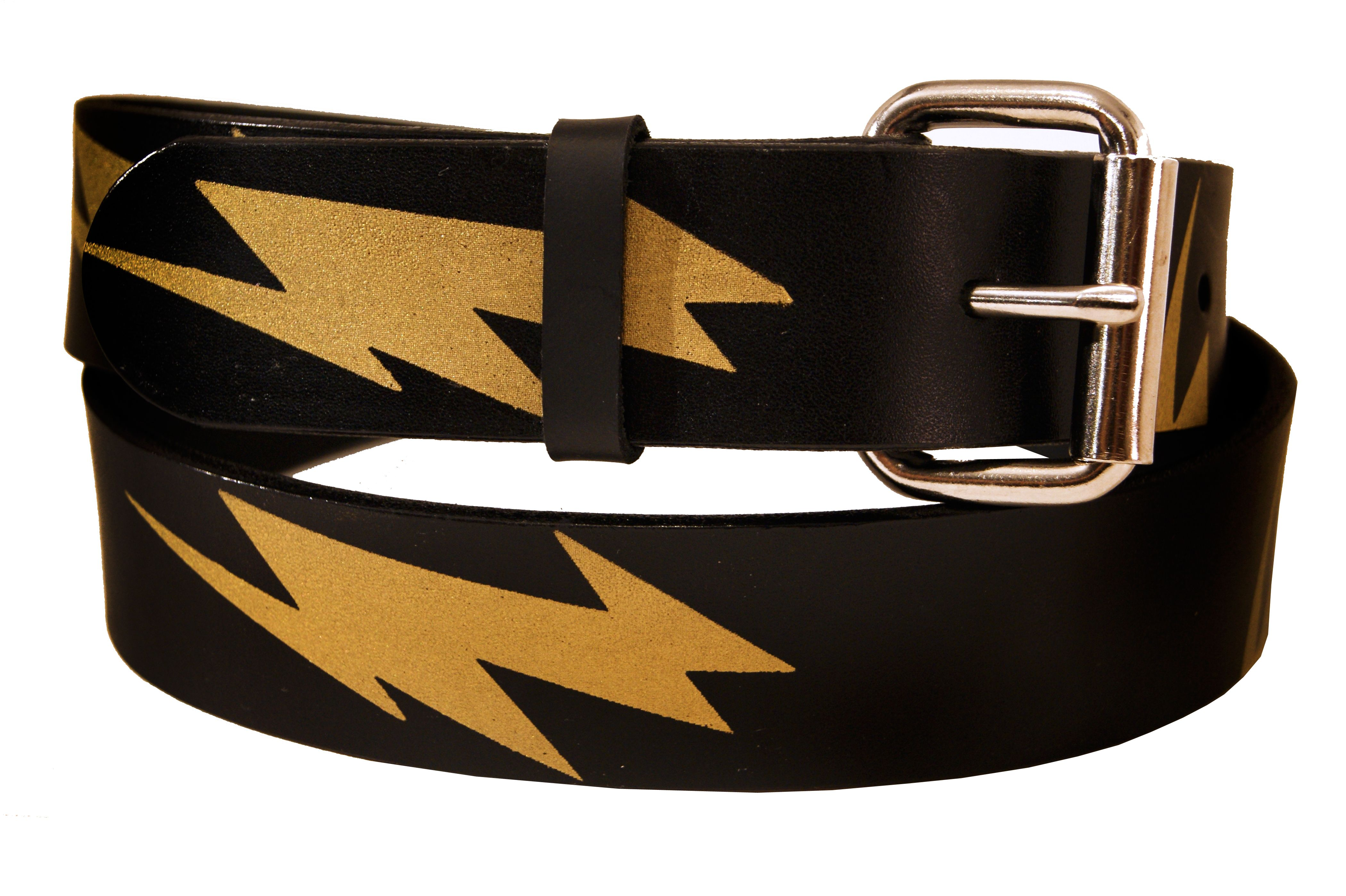 Custom belts custom and personalized leather belts custommade lightning bolt leather belt by jacob vaughn gushue gamestrikefo Gallery