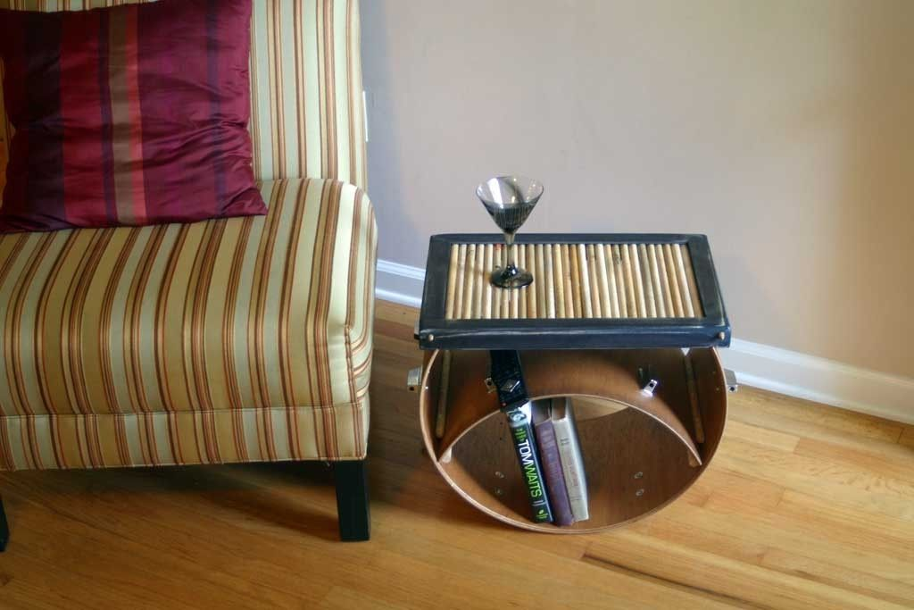Custom Upcycled Drum Stick Coffee Table By Tim Sway Perspectives
