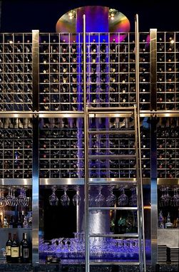 Custom Made Wine Tower • Cue Restaurant & Bar @ Guthrie Theater; Minneapolis, Mn@, Usa