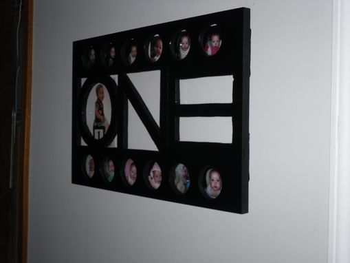 "Custom Made Commemorative Baby's First Year Picture Frame From Our ""One"" Collection"
