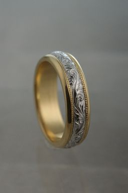 Custom Made Hand Engraved Scoll Wedding Band