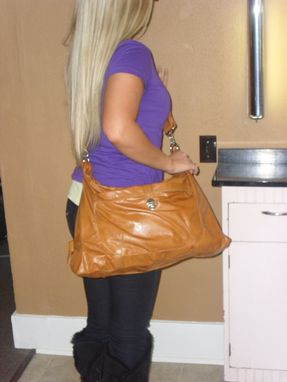 Custom Made Jenna Leather Travel And Laptop Bag