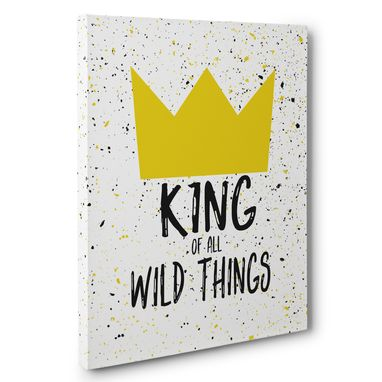 Custom Made King Of All Wild Things Canvas Wall Art