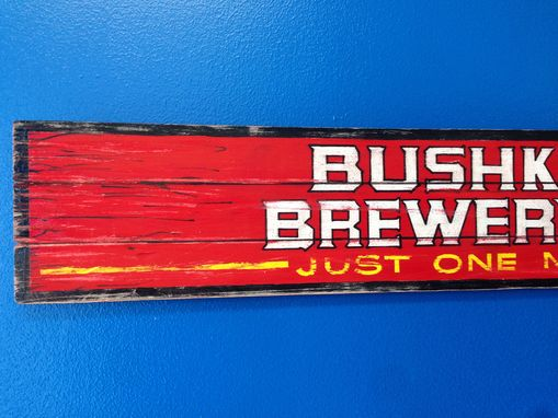 Custom Made Brewery Sign