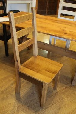 Custom Made Solid Oak Dining Chair In White Fininsh