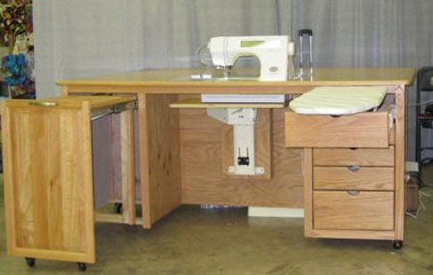 Custom Made Deluxe Quilters Sewing Cabinet by Kar/Geo Enterprise ...