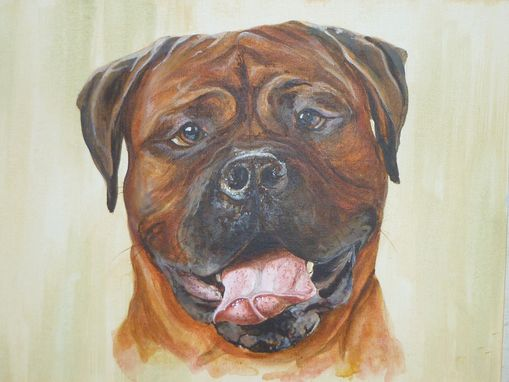 Custom Made Hand Painted Pet Portrait 'Brutus'