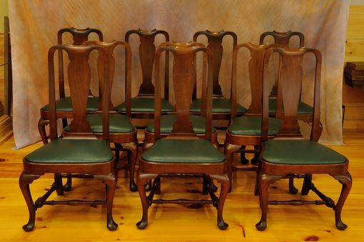 Custom Made Assembled Set Of 10 Queen Anne Chairs