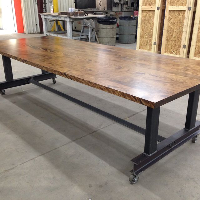 Custom Made The Glenn Industrial Conference Table By Iron Age Office - Modern industrial conference table