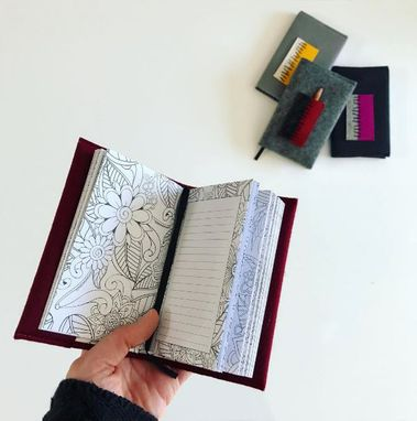 Custom Made Mini Journal With Pocket