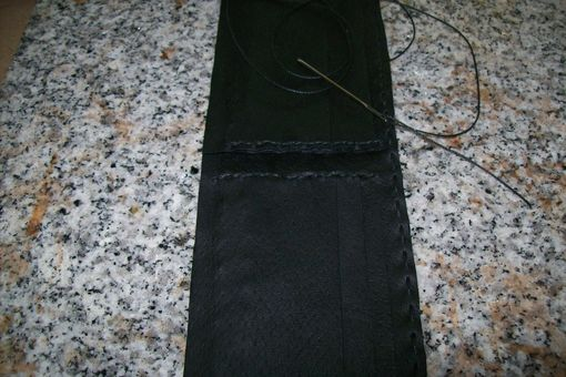 Custom Made Man's Black Leather Wallet