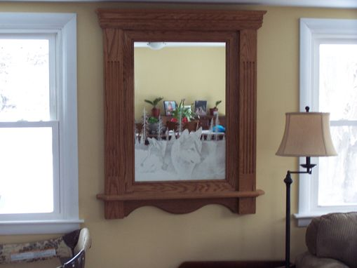 Custom Made Mirror With Custom Etching