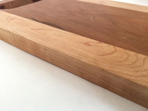 Custom Made Handcrafted Cherry Maple Wood Cutting Board | Serving Board | Face Grain - With Stand
