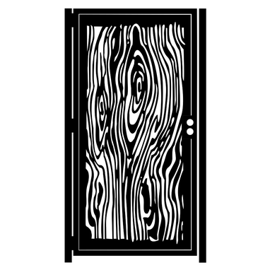Custom Made Decorative Steel Garden Gate - Wood Grain - Modern Gate - Decorative Steel Panel