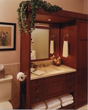 Custom Made Bathroom Cabinet