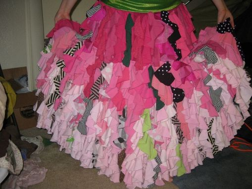Custom Made Upcycled Ruffle Skirt