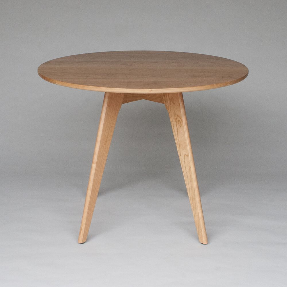 custom made mid century modern round dining table, bistro