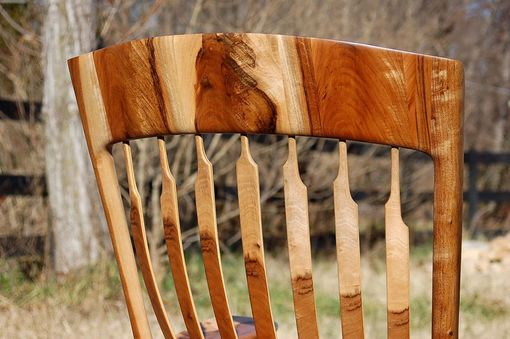 Custom Made English Walnut Rocking Chair