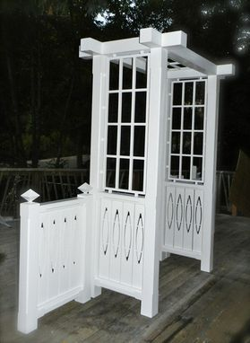 Custom Made Garden Arbor With Floating Ovals