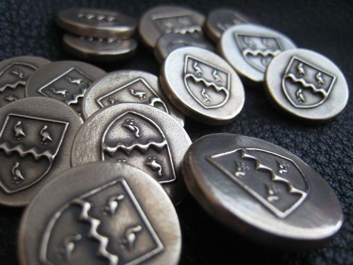 Custom Made Bronze Blazer Buttons With Family Crest Or Coat Of Arms