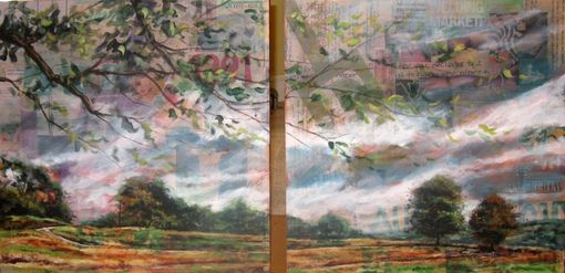"Custom Made Life--48"" X 24"" Mixed Media Landscape Painting"