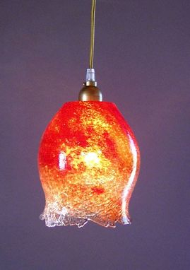 Custom Made Tuffo Crackle Pendant Lights