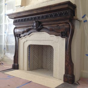 Custom mantels custommade master suite fireplace mantel teraionfo
