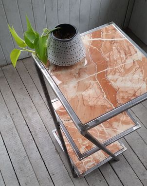 Custom Made Twisted Marble Table