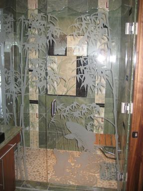Custom Made Custom Shower Door Installation