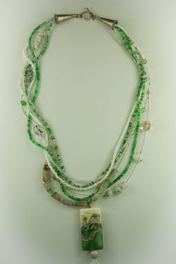 Custom Made 'Glorious Green' Multi-Strand Necklace