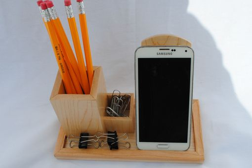 Custom Made Desktop Organizer With Cell Phone Dock