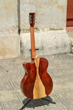 Custom Made Pinol Guitars And Ukuleles  Style Om-000 Solid Cocobolo Rosewood / Mahogany Top (Free Shipping)