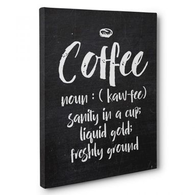 Custom Made Coffee Definition Canvas Wall Art