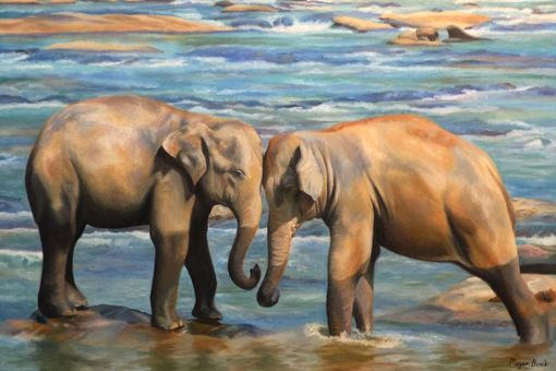 Custom Made Elephant Original Oil Painting