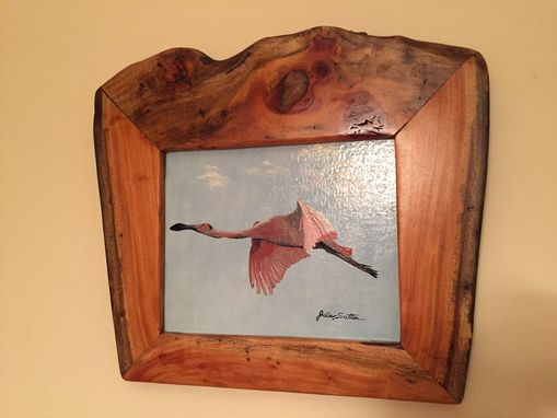 Custom Made Live Edge Picture Frames From Exotic Woods....