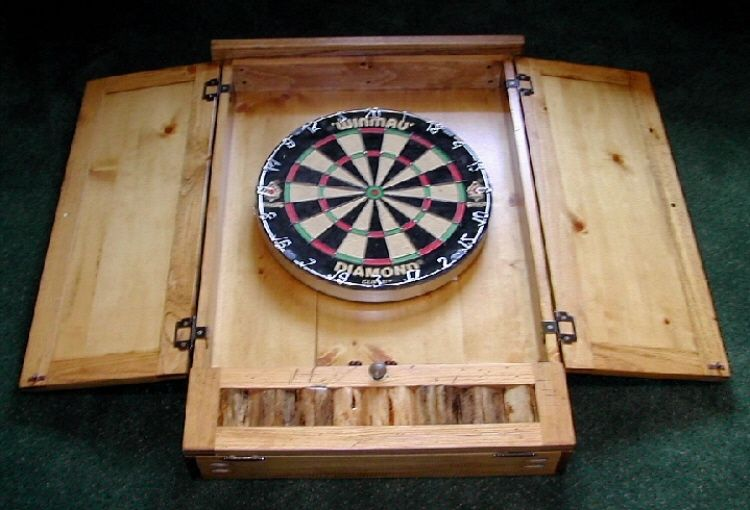 Custom Made Dartboard Cabinet