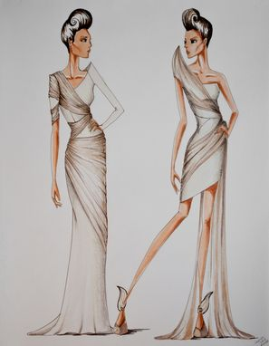 Custom Made Marker Figure Fashion Illustrations