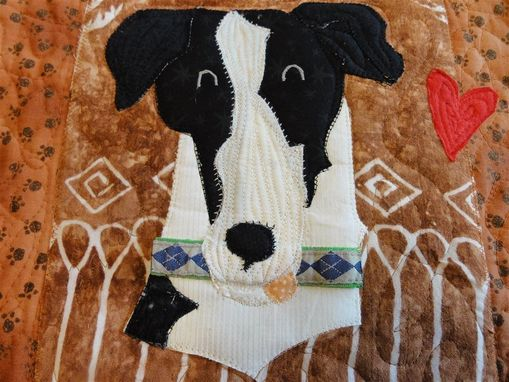 Custom Made Beloved Buddy Memory Quilt- Small Custom Pet Memorial Portrait