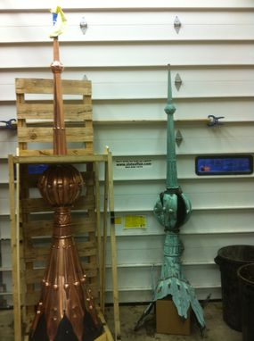 Custom Made Copper Finial