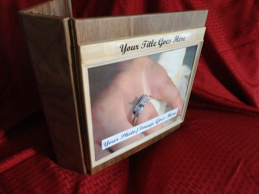 Custom Made Handmade Wooden Memory/Photo Album