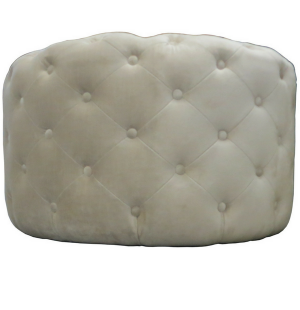 Custom Made Round Button Tufted Ottoman
