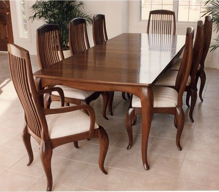 Custom Made Cabriole Dining Table & Chairs