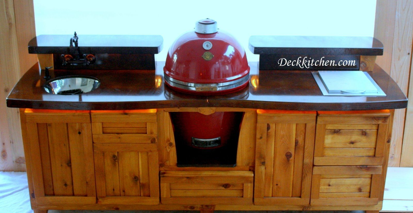 hand crafted all in one kitchen by deck kitchen. Black Bedroom Furniture Sets. Home Design Ideas