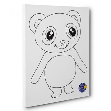 Custom Made Little Baby Bum Panda Kids Room Coloring Canvas Decor