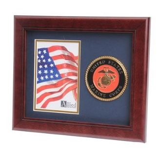Custom Made U.S. Marine Corps Medallion Portrait Picture Frame